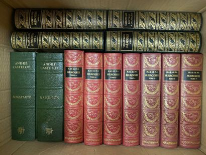 Lot de livres sur l'Histoire, André CASTELOT, Napoléon, 2 volumes, Mémoires Talleyrand, 6 volumes, Mémoires de Massena, 8 volumes