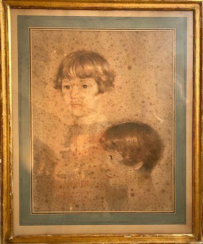 William FEL  Deux portraits de Nicole de...