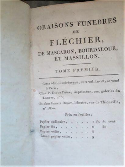 Oraisons funèbres de Fléchier, Mascaron,...