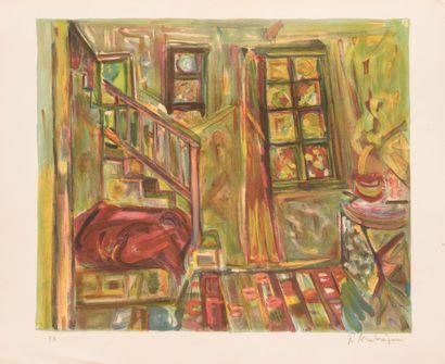 Pinchus KREMEGNE (1890-1981)Atelier d'artiste-...