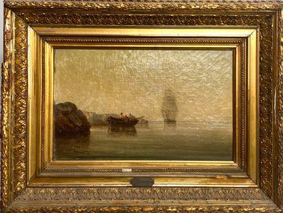 Paul SEIGNON (XIXème)  Marine.  Huile sur...