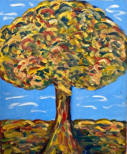 GAILLARD ANNICK  L'arbre  Huile sur toile,...