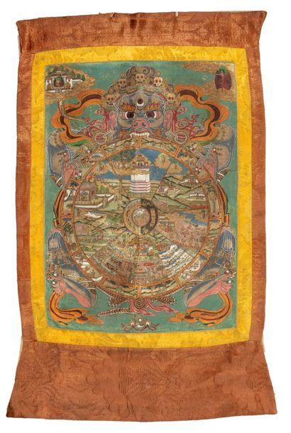 Tangkha représentant les cycles de la réincarnation....