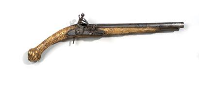 Pistolet Ottoman Monde Ottoman, XVIIIe-XIXe siècle. Longueur: 50 cm. La crosse et...