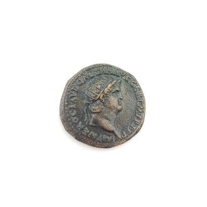 Néron (54-68). Dupondius au temple de Janus...
