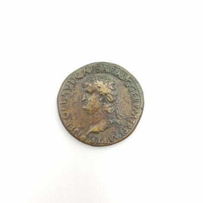 Néron (54-68). Sesterce au temple de Janus,...
