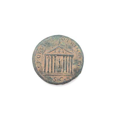 Trajan (98-117). Sesterce au temple de Jupiter,...