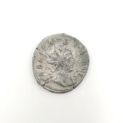 Gallien (253-268). Antoninien au temple de...
