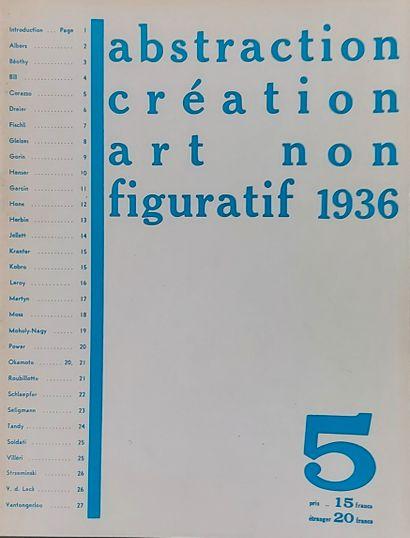 • Revue «ABSTRACTION- CREATION» , no 1, 2,...