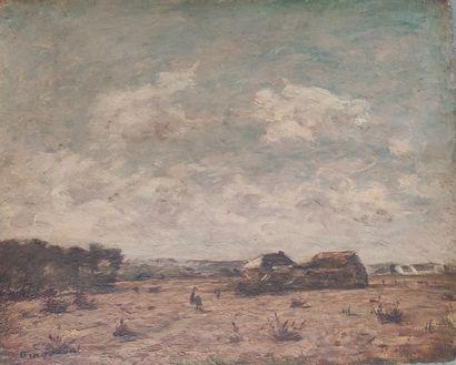 Louis BRAQUAVAL (1854/60- 1929) Paysage...