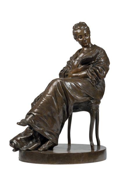 DALOU Jules (1838-1902)<br/>La Liseuse (1877-1881)