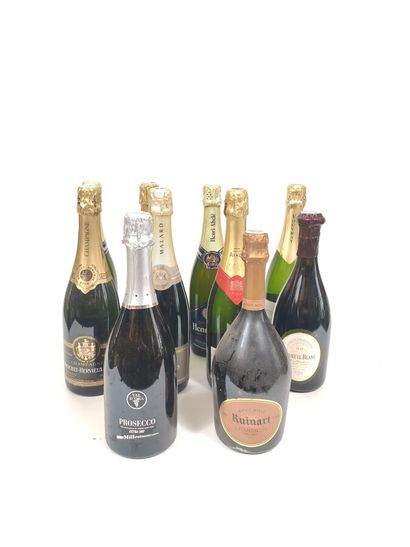 3 bts champagne Abelé,  1 bt champagne Brochet-Hervieux&...