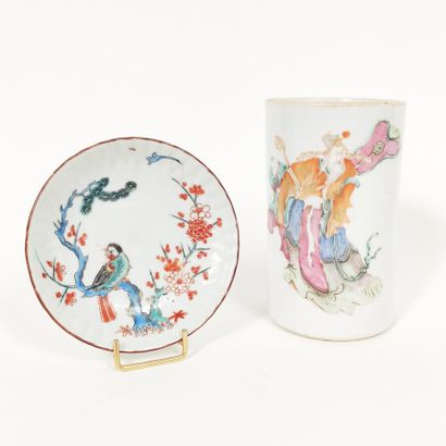 Pot à pinceaux en porcelaine à décor d'un...