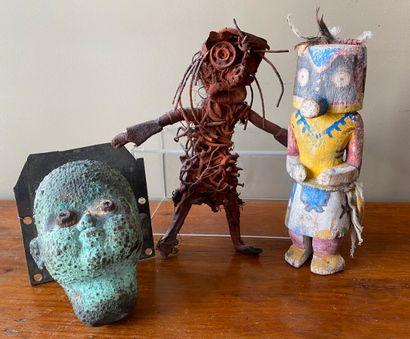 Statuette style kachina moderne, statuette...