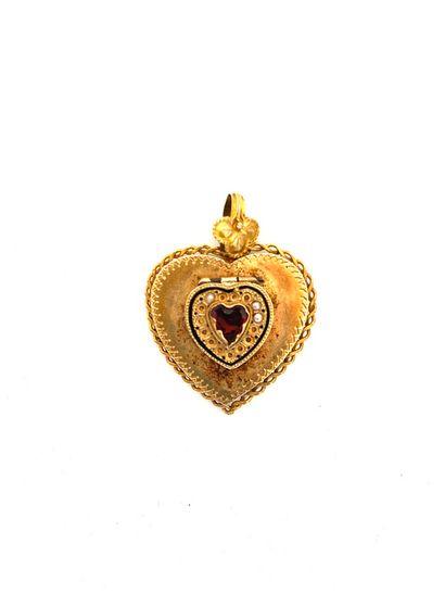 Lot en or jaune (750 ) comprenant : Une alliance ( 3.1 g), une bague à anneau quadruple...