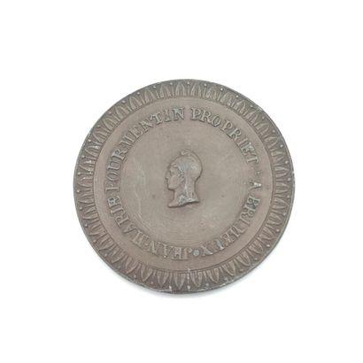 IIe République (1848-1852). Médaille en étain...