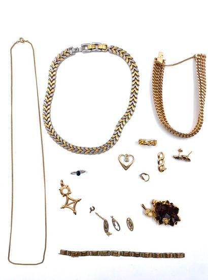 Lot de métal comprenant : Bracelet gourmette...