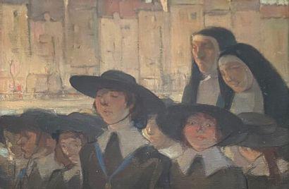 Luc LAFNET (1899-1939); La rentrée du pensionnat....