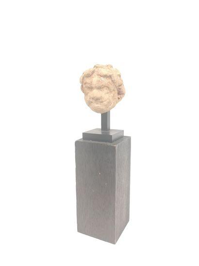 Petit bronze Hercule (9 cm) sur socle en...