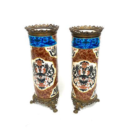 Attribué à Jules Vieillard.Paire de vases...