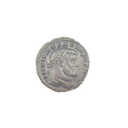 Maxence (306-313). Follis au temple, 307...