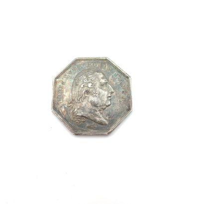 Louis XVIII (1814-1824). Jeton en argent...