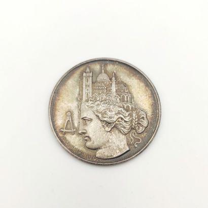 IIIe République (1870-1940). Jeton en argent...