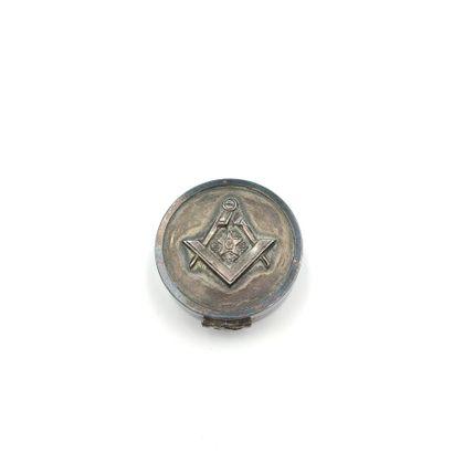 Petite boîte ronde en argent représentant...