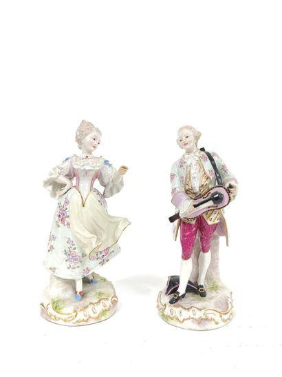 MEISSEN - Couple de danseurs en porcelaine...