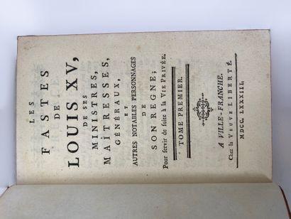 Les fastes de Louis XV, de ses ministres, maîtresses, généraux []  La Veuve Liberté...