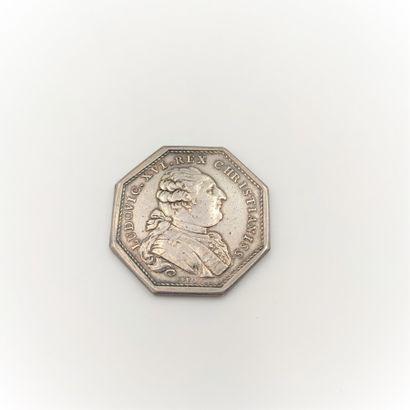 Louis XVI (1774-1791). Jeton en argent des...