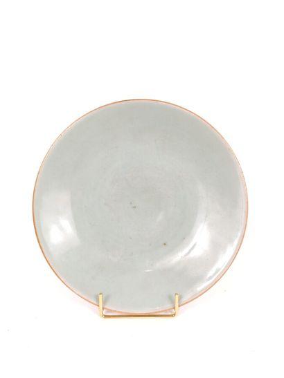 Plat circulaire en grès émaillé céladon  Au...