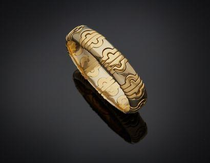 BRACELET en or jaune et or gris (750) semi...