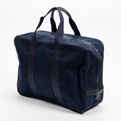CELINE  Sac de week-end  Week-end bag    Toile siglée bleu marine  Navy blue monogram...