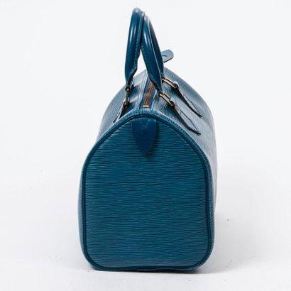 "LOUIS VUITTON  1995  Sac ""Speedy"" 25  ""Speedy"" 25 bag    Cuir Epi bleu  Blue Epi..."