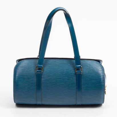 "LOUIS VUITTON  1996  Sac ""Soufflot""  ""Soufflot"" bag    Cuir Epi bleu  Blue Epi leather..."