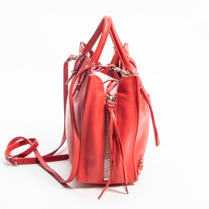 "BALENCIAGA  Sac ""Papier A6""  ""Papier A6"" bag    Cuir rouge  Red leather  Garnitures..."