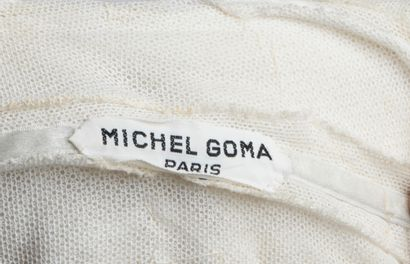 MICHEL GOMA HAUTE COUTURE - 1959  Ivory silk jersey draped evening gown with whalebone...