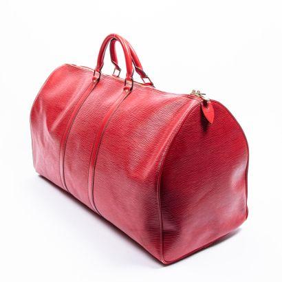 "LOUIS VUITTON  1990  Sac de voyage ""Keepall"" 60  ""Keepall"" 60 travel bag    Cuir..."
