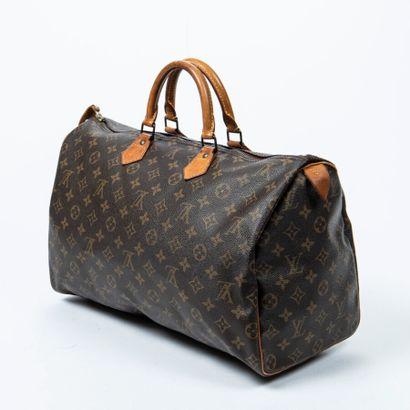 "LOUIS VUITTON  1991  Sac ""Speedy"" 40  ""Speedy"" 40 bag    Toile Monogram, cuir naturel..."