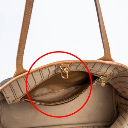 "LOUIS VUITTON  2008  Sac ""Neverfull"" PM  ""Neverfull"" PM bag    Toile Monogram, cuir..."