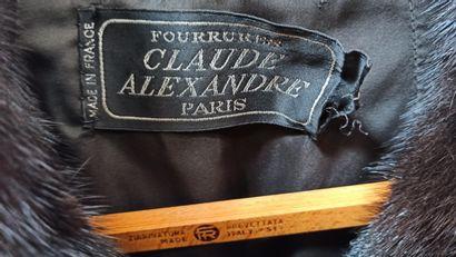 CLAUDE ALEXANDRE  MANTEAU en vison dark (env. TS/M)