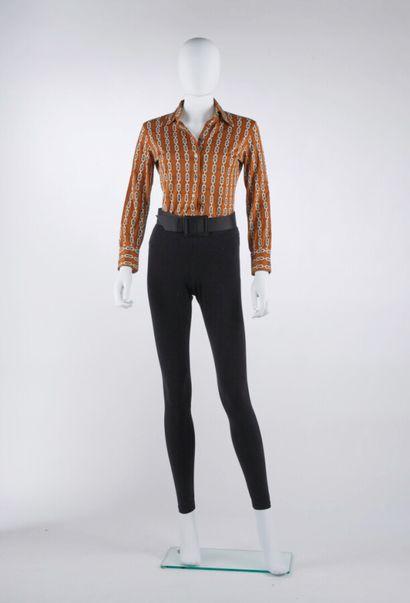 CÉLINE - 1970s  CHEMISE en jersey de coton...