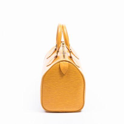 "LOUIS VUITTON  1995  Sac ""Speedy"" 25  ""Speedy"" 25 bag    Cuir Epi jaune  Yellow..."
