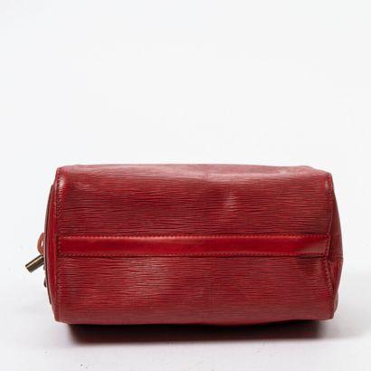 "LOUIS VUITTON  1995  Sac ""Speedy"" 25  ""Speedy"" 25 bag      Cuir Epi rouge  Red Epi..."