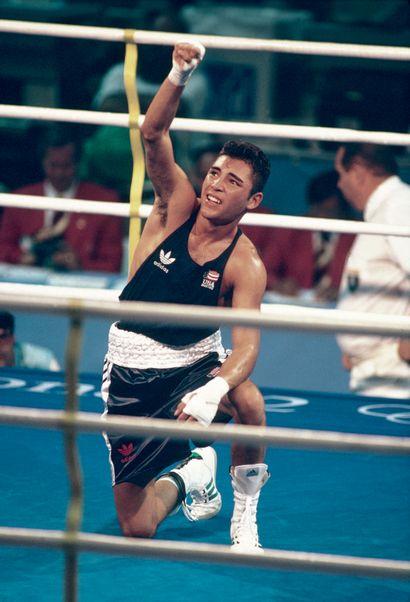 Barcelone 1992. Oscar de la Hoya, boxe ©...