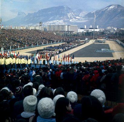 Grenoble 1968. Cérémonie d'ouverture © L'Équipe...