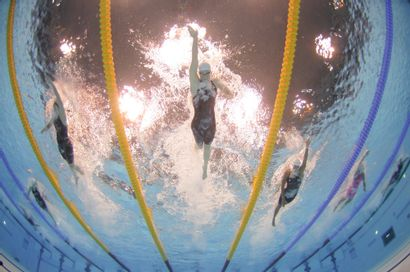 Londres 2012. Camille Muffat, natation ©...