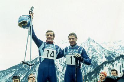 Grenoble 1968. Jean-Claude Killy et Guy Périllat,...