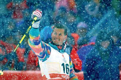 Albertville 1992. Edgar Grospiron, ski freestyle...
